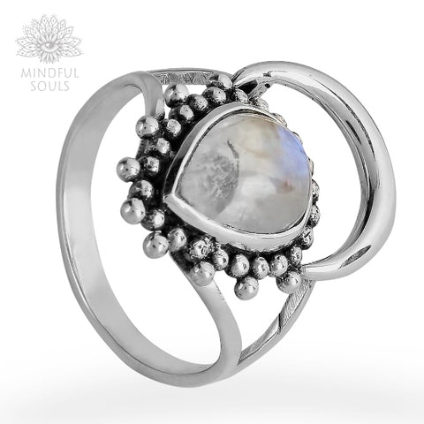 Moonstone Crescent Ring