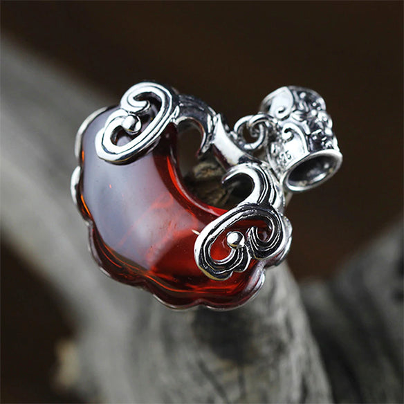 Red Heart Garnet Pendant