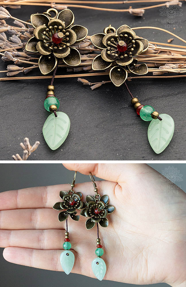 bBlossom Aventurine Earrings