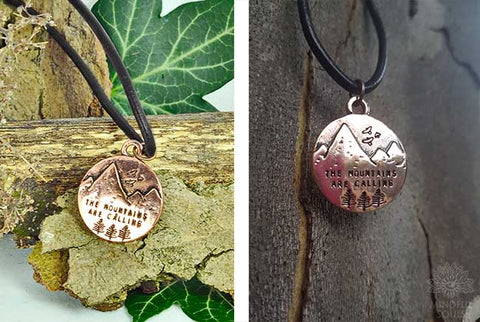 "Handmade ""The Mountains Are Calling"" Necklace"