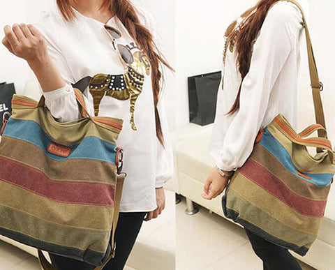 Patchwork Canvas Handbag