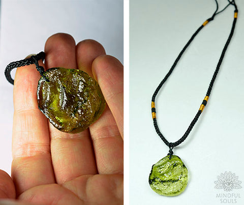 Natural Moldavite Necklace