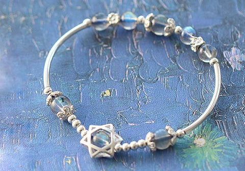 Moonstone Hexagram Bracelet