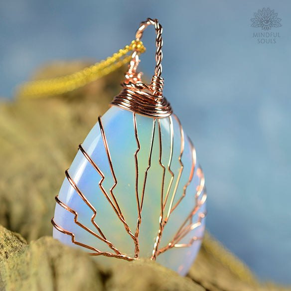 Handmade Tree Of Life Opalite Necklace