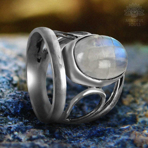 Feminine Power Moonstone Ring