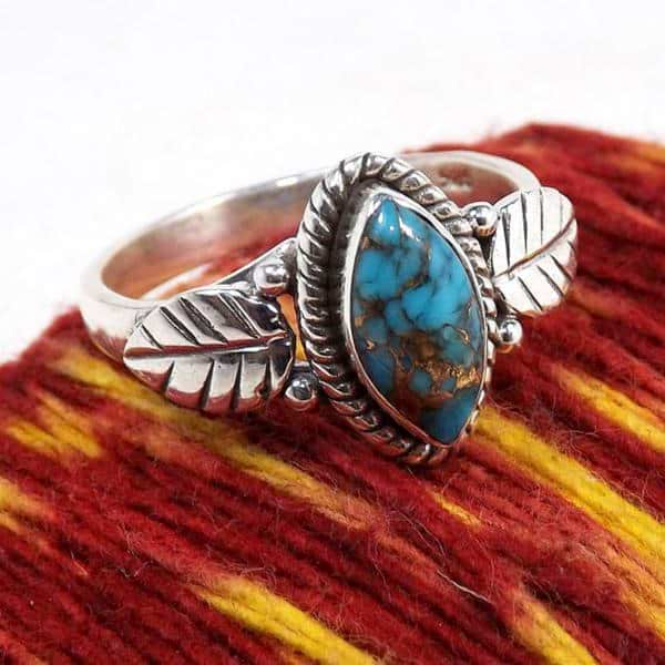 Turquoise Flora Ring