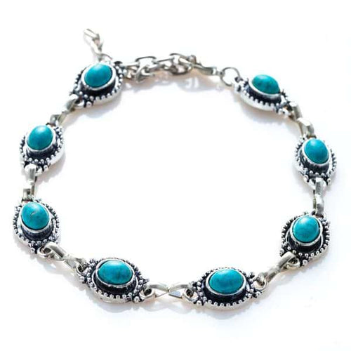 Bohemian Turquoise Anklet