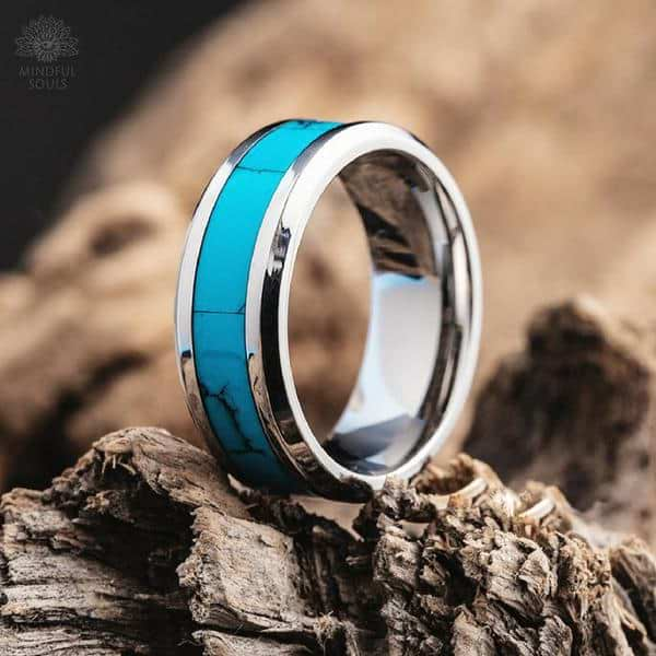 Tungsten Turquoise Ring