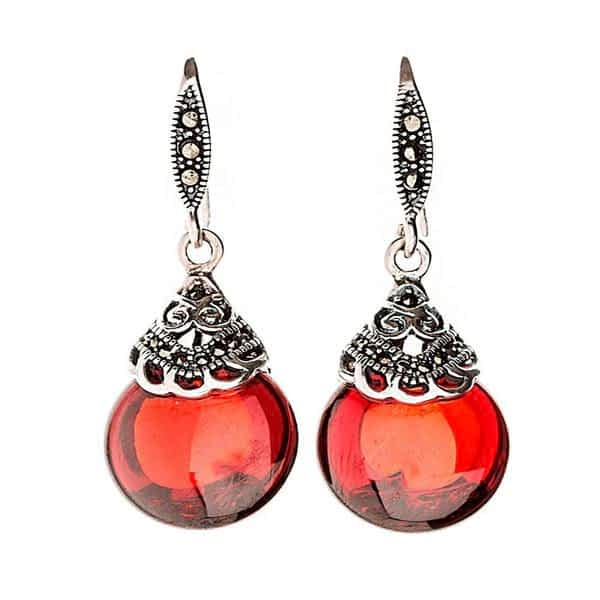 Garnet Earrings of Tenderness