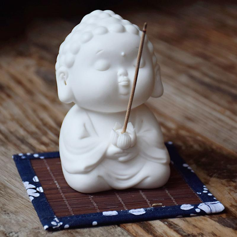 Little Buddha Statue Incense Burner - Home Decor Figurine