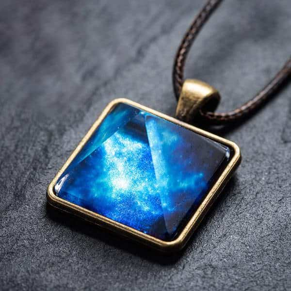 Glowing Ancient Pyramid Crystal Necklace