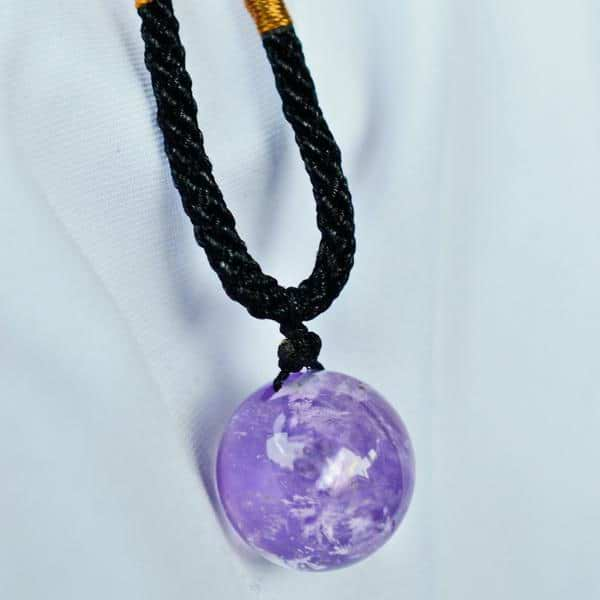 Amethyst Necklace | Bead Pendant