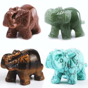 Reiki Elephant Figurines