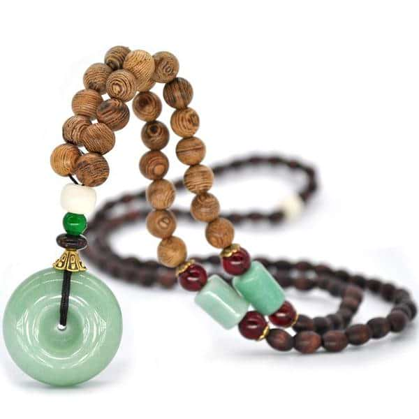 Aventurine Necklace | Handmade Beaded Pendant