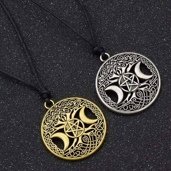 Pentagram Necklace | Moon Pendant