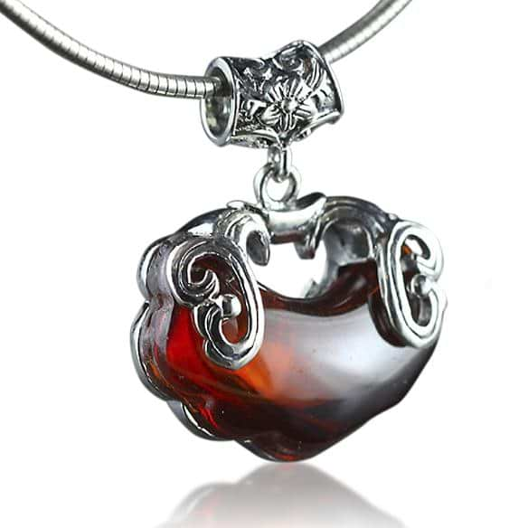 Red Heart Garnet Necklace