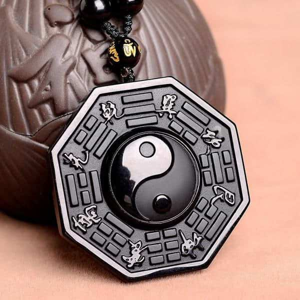 Obsidian Balance Necklace