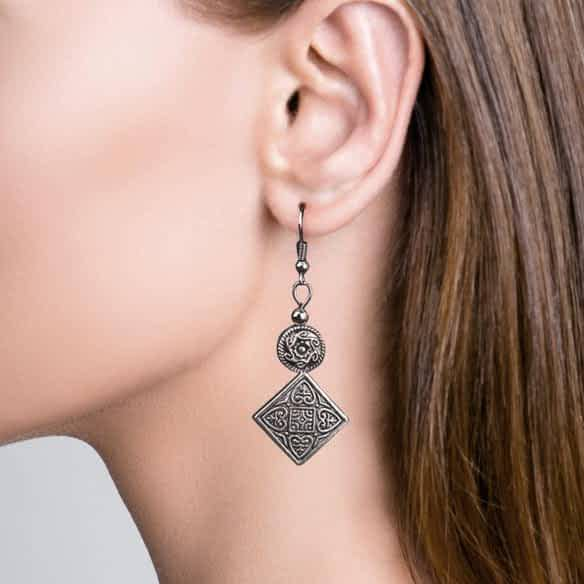Oriental Dangle Earrings