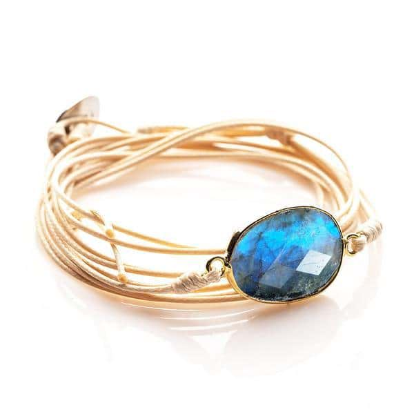 String Bracelet with Labradorite Gemstone