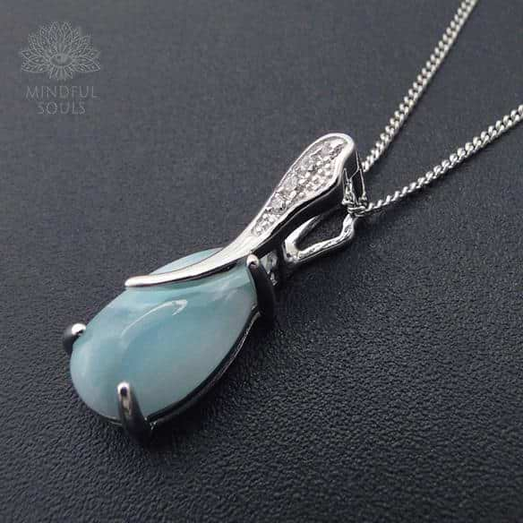 Larimar Water Drop Pendant