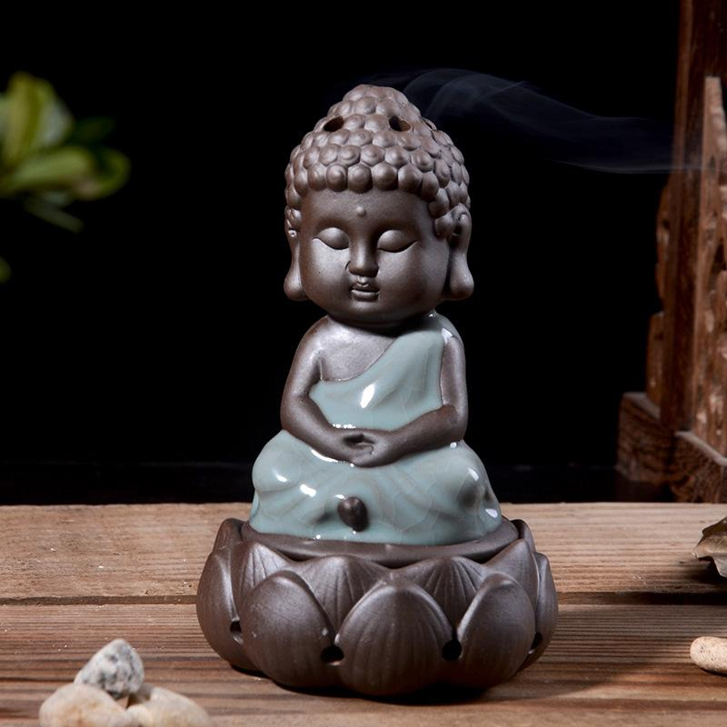 Lotus Buddha Incense Burner