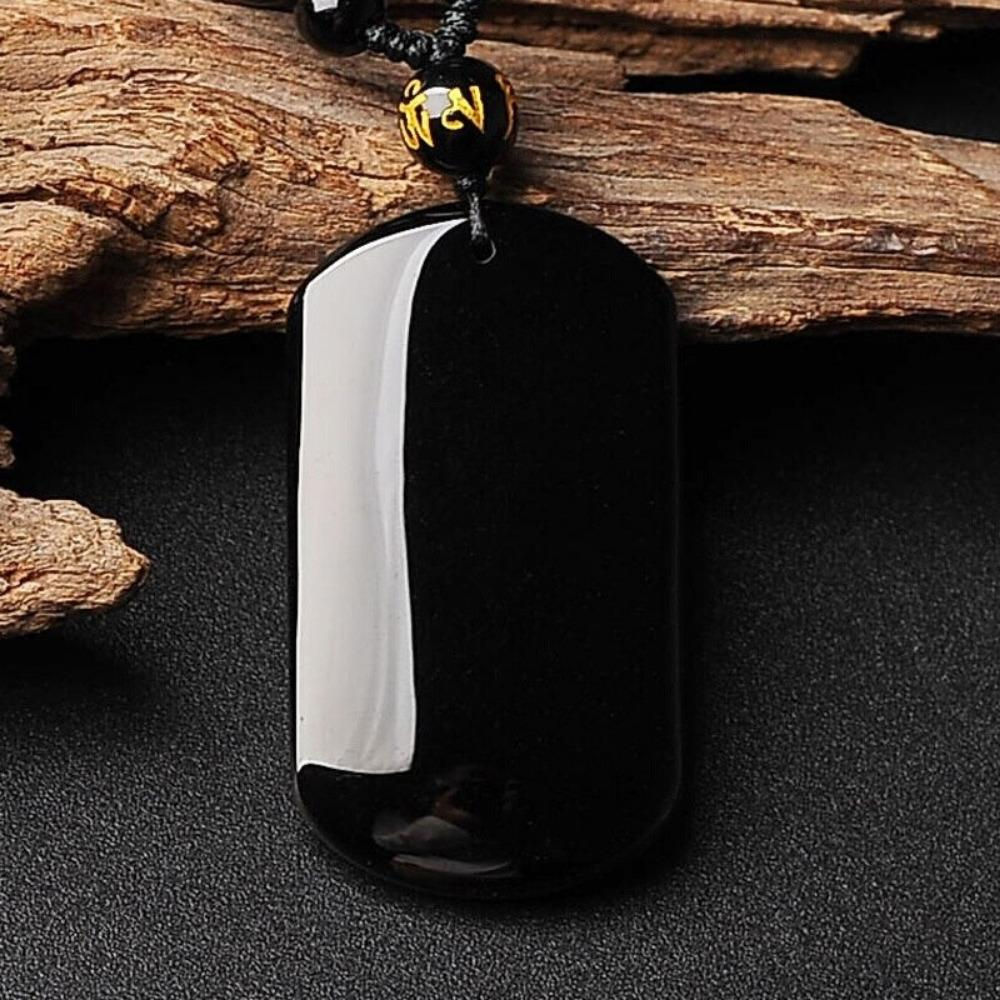 Black Obsidian Beads Protection Necklace