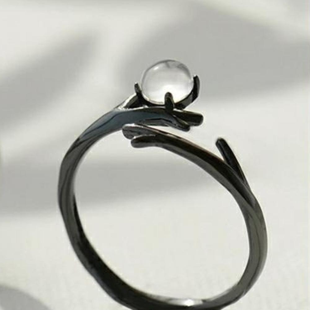 Moonstone Magical Forest Crystal Ring