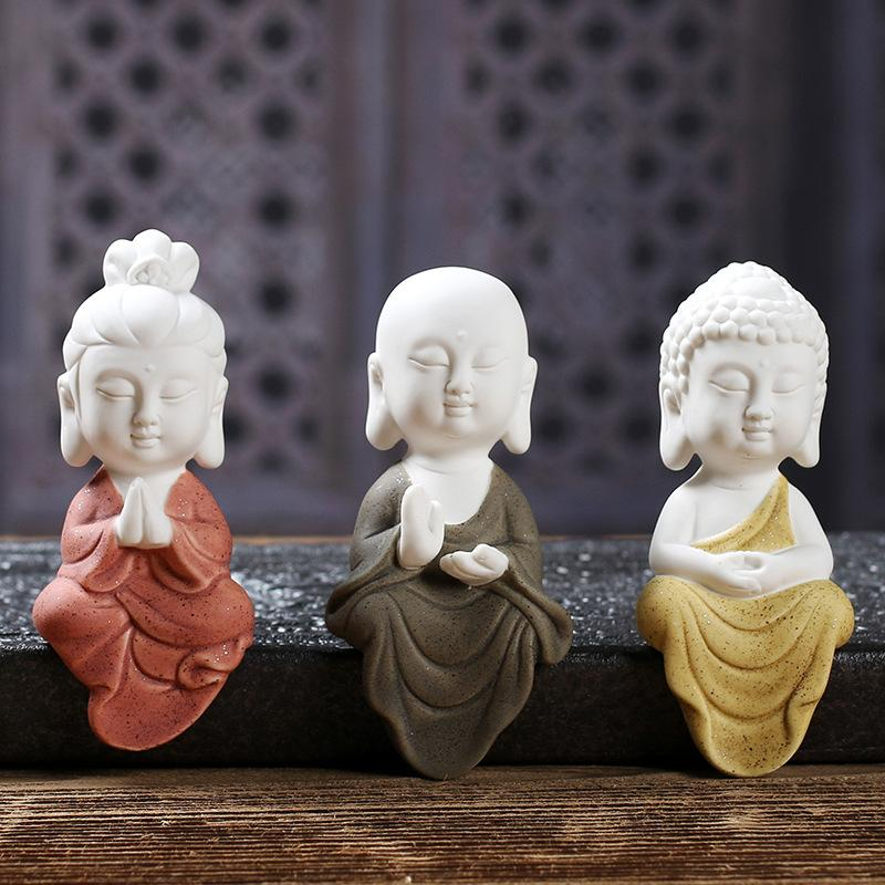 Handmade Buddha Statue Figurine - Home Decor