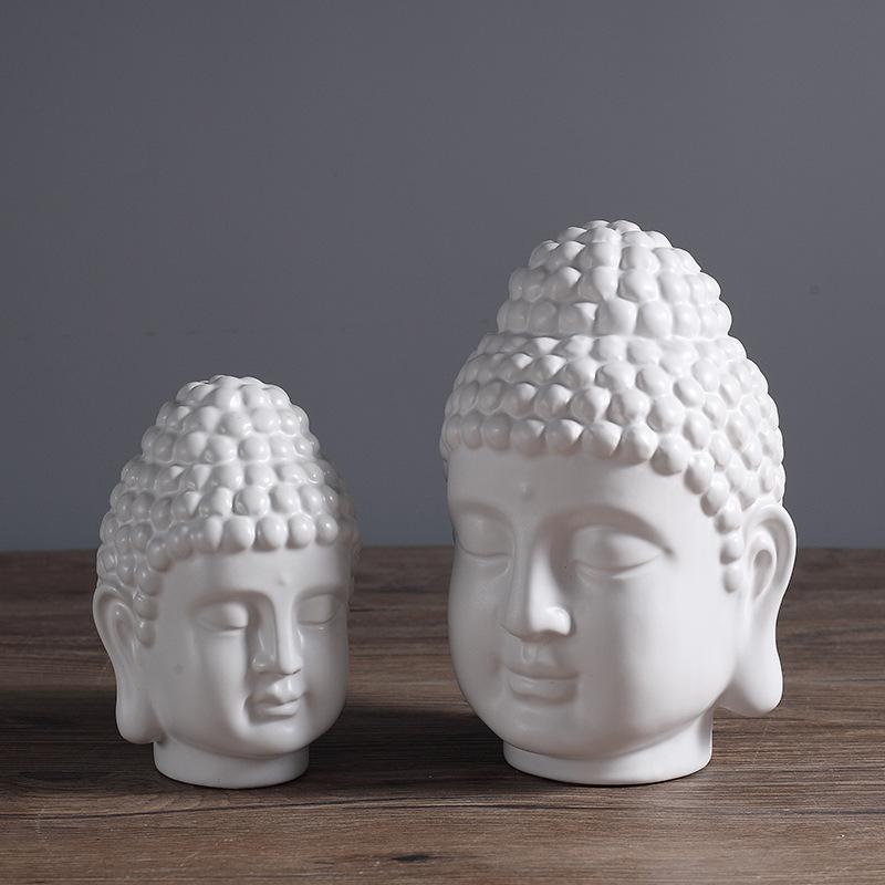 Buddha Head Statue Figurine - Home Decor
