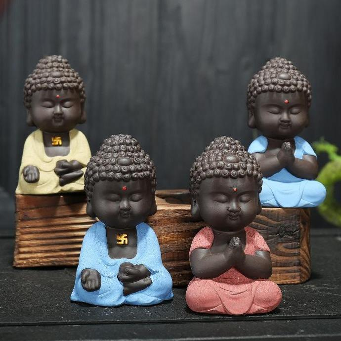 Little Buddha Statue Figurine - Home Decor