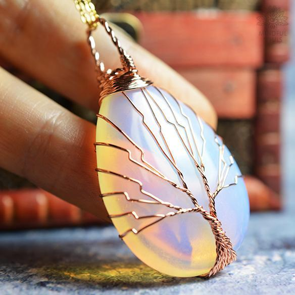 Opalite Tree Of Life Necklace