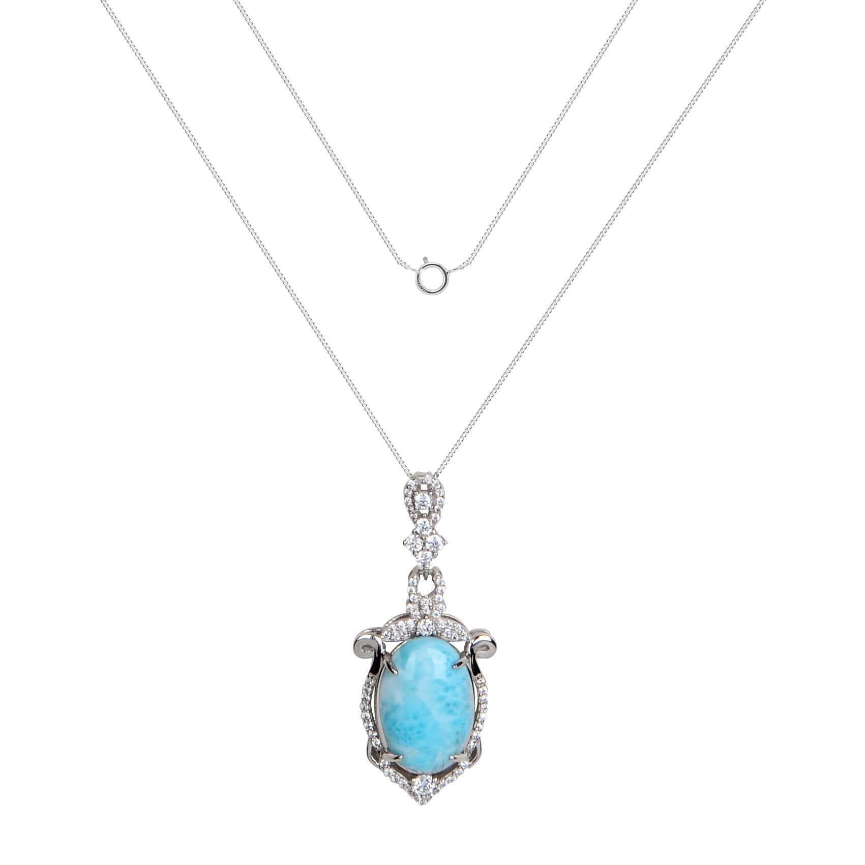 Larimar Mythos Necklace