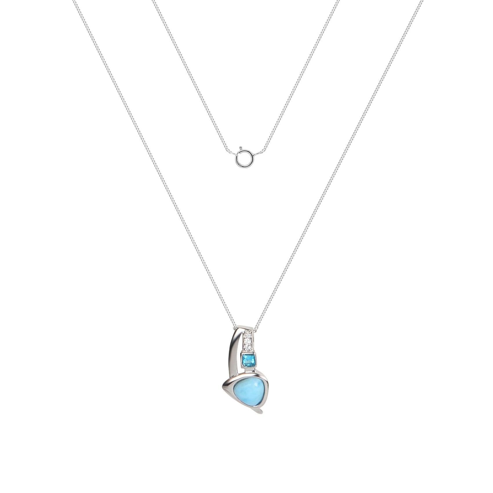 Larimar Trinity Necklace