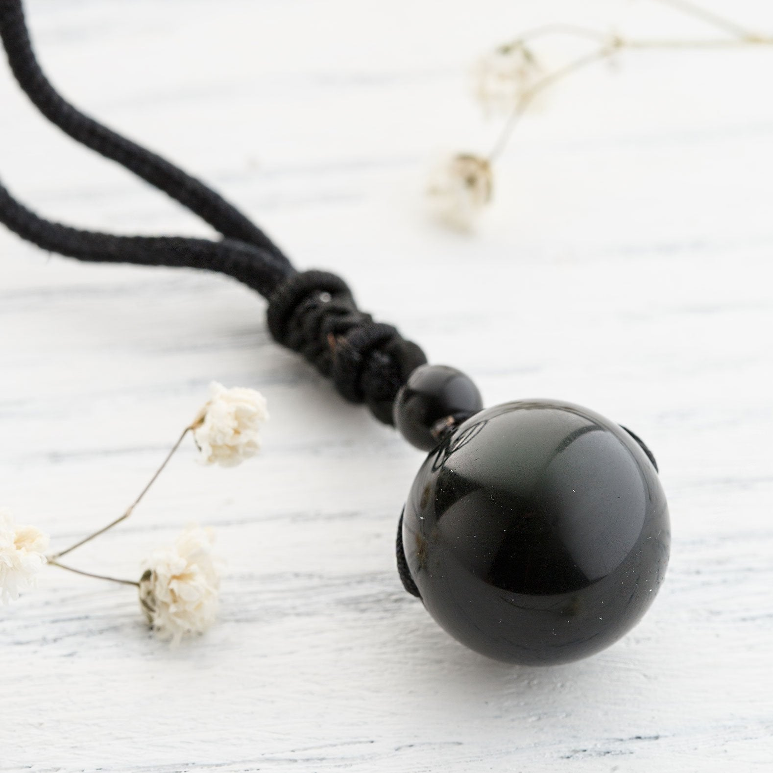 Obsidian Stone Necklace