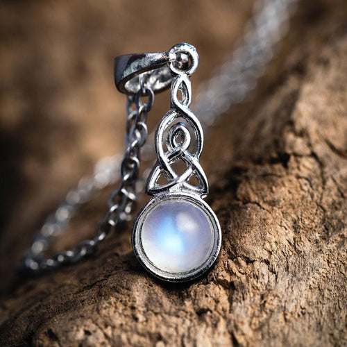 Celtic Knot Moonstone Necklace
