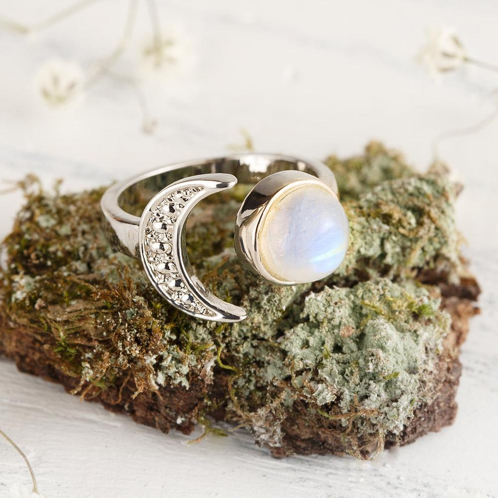 Young Moon Moonstone Ring