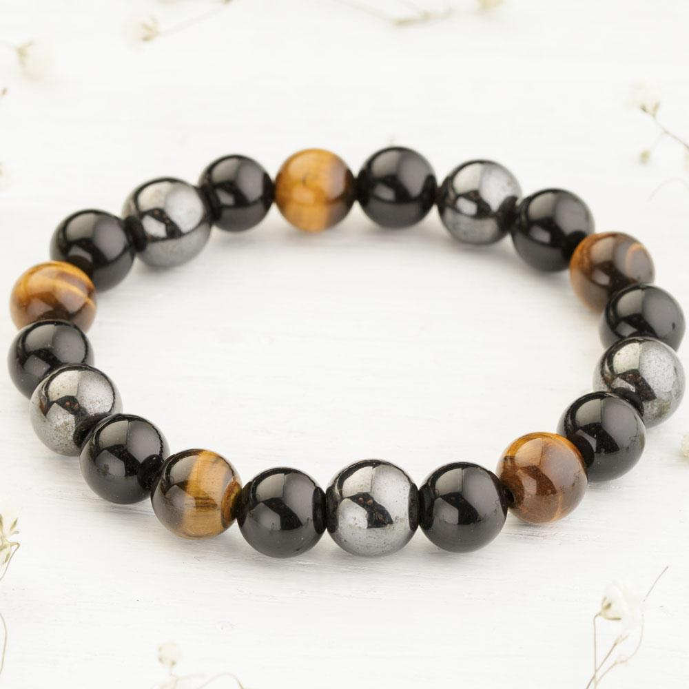 Triple Stone Protection Bracelet