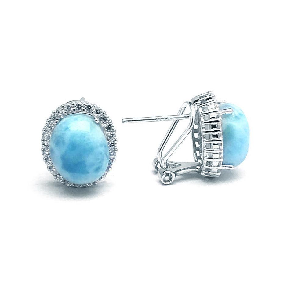 Larimar Wave Earrings