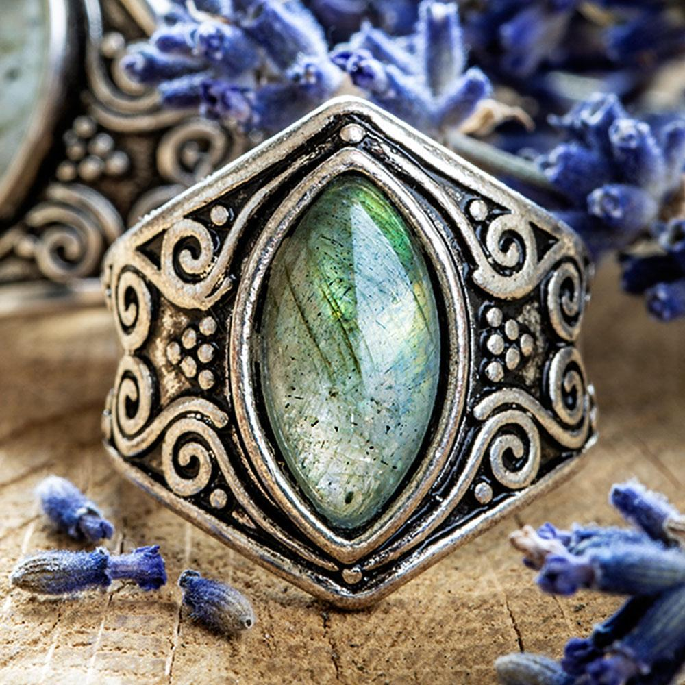 Natural Moonstone 'Full Moon' Ring