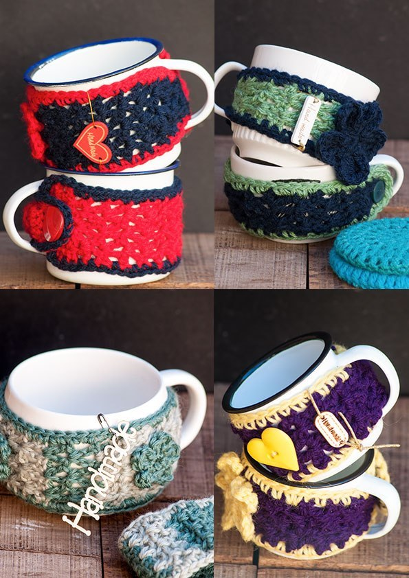 Cup Cozies with Mugs