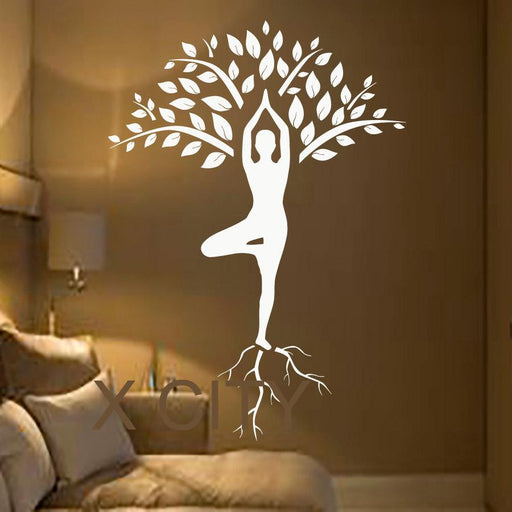 Tree Art Yoga Vinyl Stickers