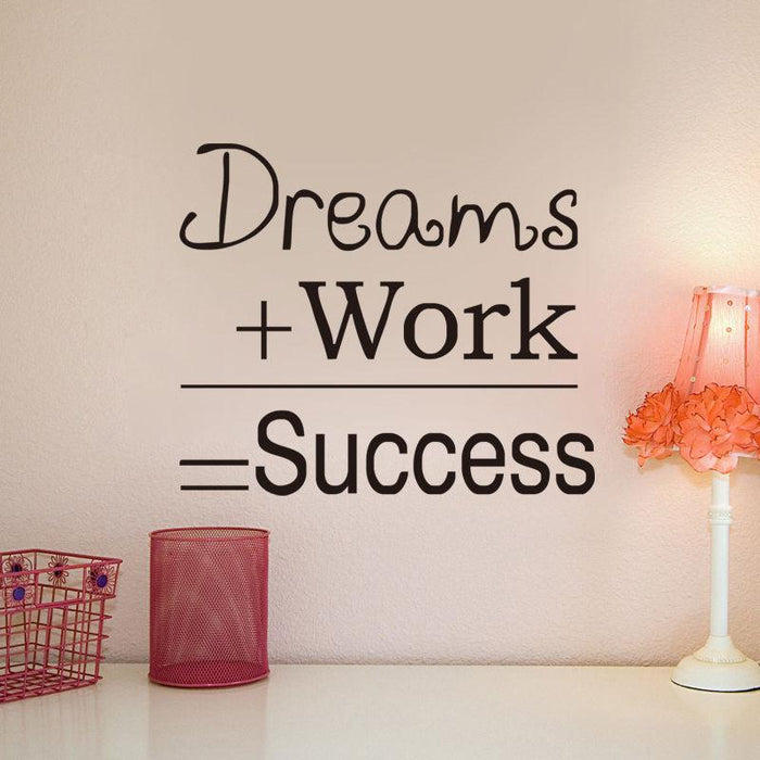 Dream Work Success Wall Sticker