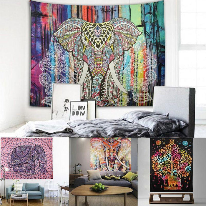 Elephant Tapestry Wall Carpet