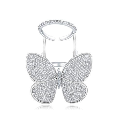 Butterfly Shaped Adjustable Ring