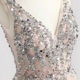 "<p style=""font-size: 18px;""><b>ANASTASIA</b></p><p style=""color:grey"">SEQUIN BEADED A-LINE GOWN</p>"