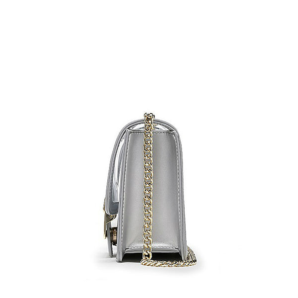 BEDAZZLE - Transparent Chain Strap Crossbody Bag