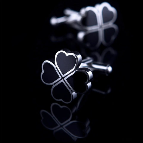 products/Black-Clover-Clove-Design-Polished-Silver-Cufflinks-1.jpg