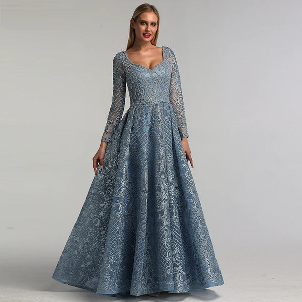 "<p style=""font-size: 18px;""><b>CAPRICE</b></p><p style=""color:grey"">CRYSTAL BEADED ORGANZA BALL GOWN-BLUE</p>"
