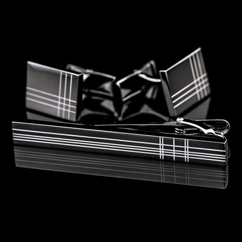 products/Chequered-Black-Classic-Chequered-Design-Tie-Clip-_-Cufflinks-Set-1.jpg