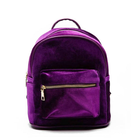 products/Diamond-Touch-Deep-Shine-Velvet-Backpack-Purple-Colour-Bag-With-Top-Handle-Front-Zip-Compartment-And-Closure-Image-1.jpg